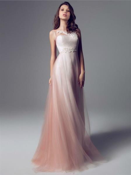 Розовое свадебное платье реклама