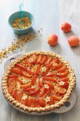 Tourte aux abricots et pistaches