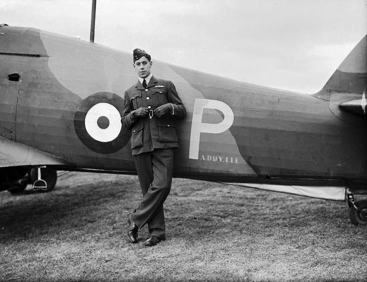 "F/O Edgar J ""Cobber"" Kain of No 73 Squadron RAF leans on Hurricane Mk I PADDYIII at Rouvres in October 1939. Kain scored his fourth and fifth victories on 26 March 1940, before being wounded and forced to bail out. The 21-year-old pilot was killed in a flying accident while doing acrobatics over Échemines airfield on 7 June 1940, while returning a war-weary fighter to Britain for an overhaul. The wreckage was left where it was to warn others not to play over the field."