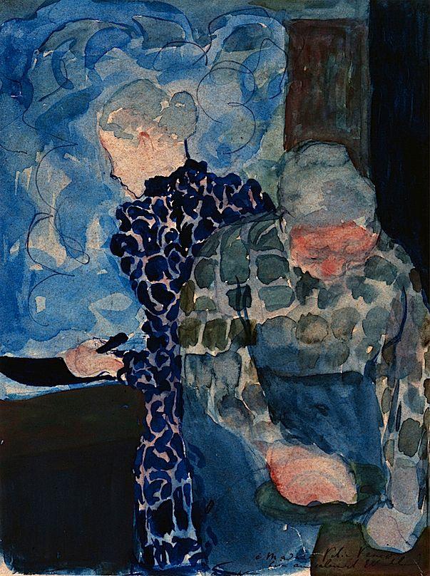 Edouard Vuillard - Deux Femmes dans Interieur
