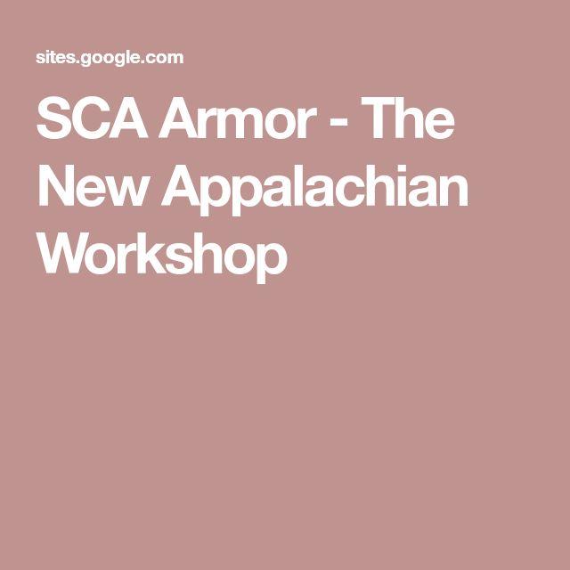 SCA Armor - The New Appalachian Workshop