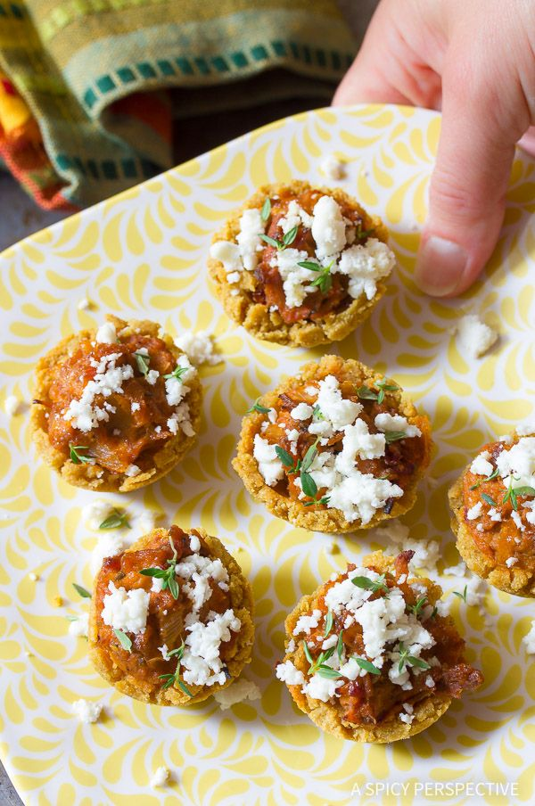 """Tamale Bites Recipe - An easy """"cheater"""" tamales recipe making perfect little party size tamale appetizers. These tamales are packed with flavor and sprinkle"""