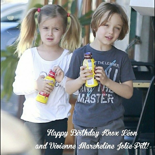 Happy birthday Knox Léon and Vivienne Marcheline Jolie-Pitt!