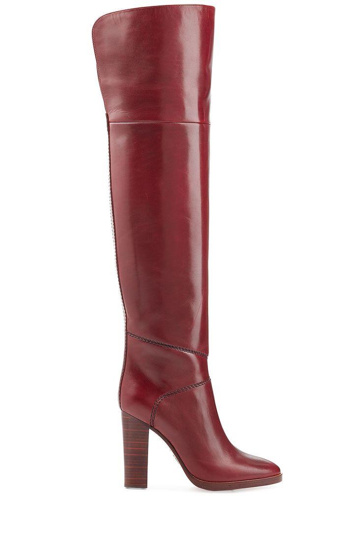 Cuissardes en cuir de CHLOÉ | La mode de luxe en ligne | STYLEBOP.com
