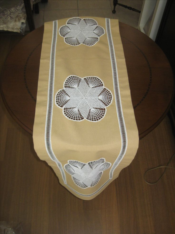 linen & lacework  table runner