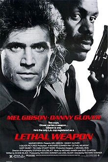 Lethal Weapon is a 1987 American buddy cop action film and the first in a series of films, all directed by Richard Donner and starring Mel Gibson and Danny Glover as a mismatched pair of LAPD detectives, and Gary Busey as their primary adversary. Funny, energetic, and gripping with a good story and a great ending.