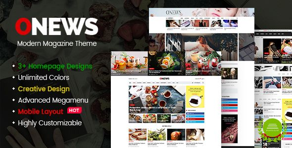 ONews - Modern Newspaper & Magazine WordPress Theme with Mobile Layout.  Check it now >>>