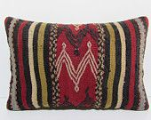 16x24 bohemian kilim pillow european lumbar pillow knit pillow cover boho tapestry decorative cushion big cushion moroccan cushion rug 29572