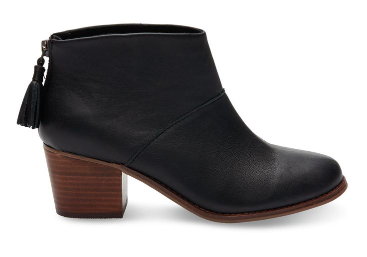 Our version of the ankle bootie starts with a stacked mid-heel and zips up the back. Designed in gorgeous full-grain leather, you'll wear this staple with everything from skirts to cuffed jeans.