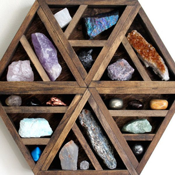 I've been seeing these beautiful crystal storage shelves in all shapes and sizes pop up on my Pinterest feed lately and I was pleasantly surprised to find that they are all from the same website, Stone & Violet. They are all hand-made and customized to fit a specific crystal collection. Their whole collection is just …