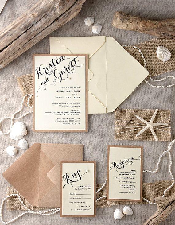 Tropical Beach Wedding Invitations20 Starfish von forlovepolkadots