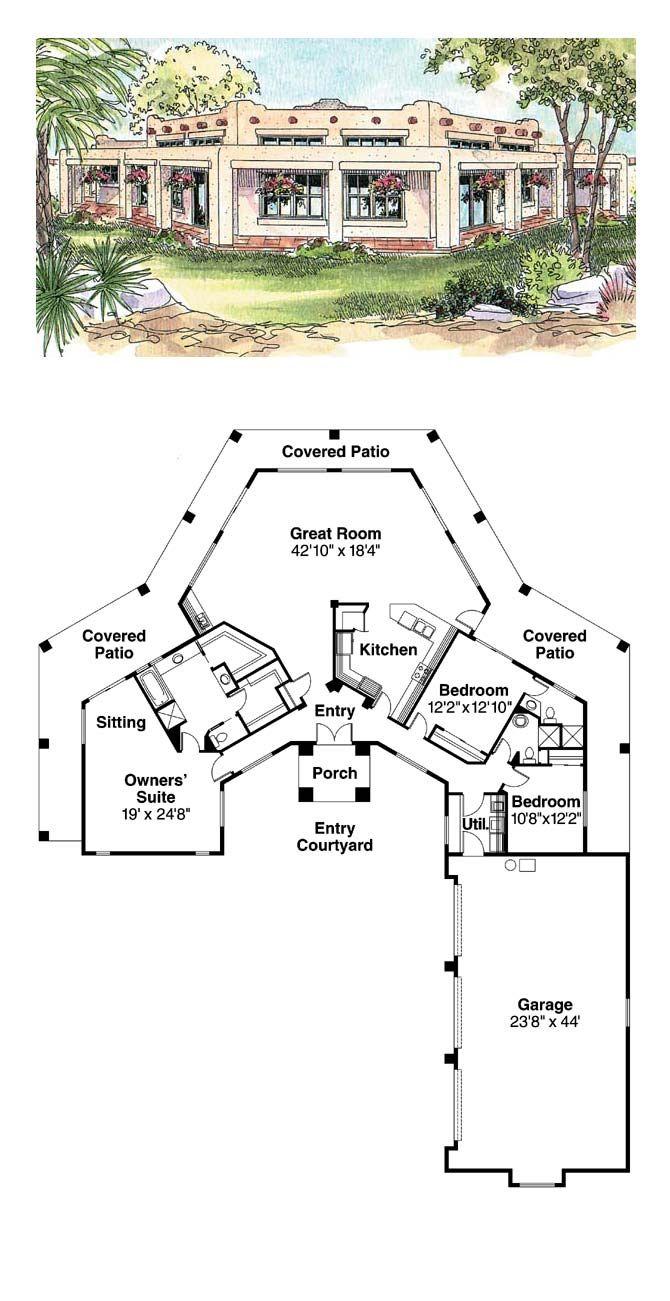 49 best images about santa fe house plans on pinterest for Santa fe floor plans