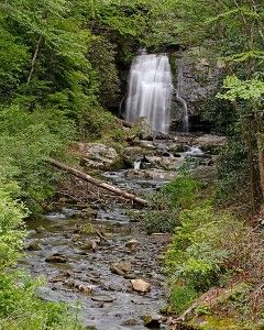 Easily accessible Waterfalls in the Great Smoky Mountain National Park of east Tennessee near Gatlinburg