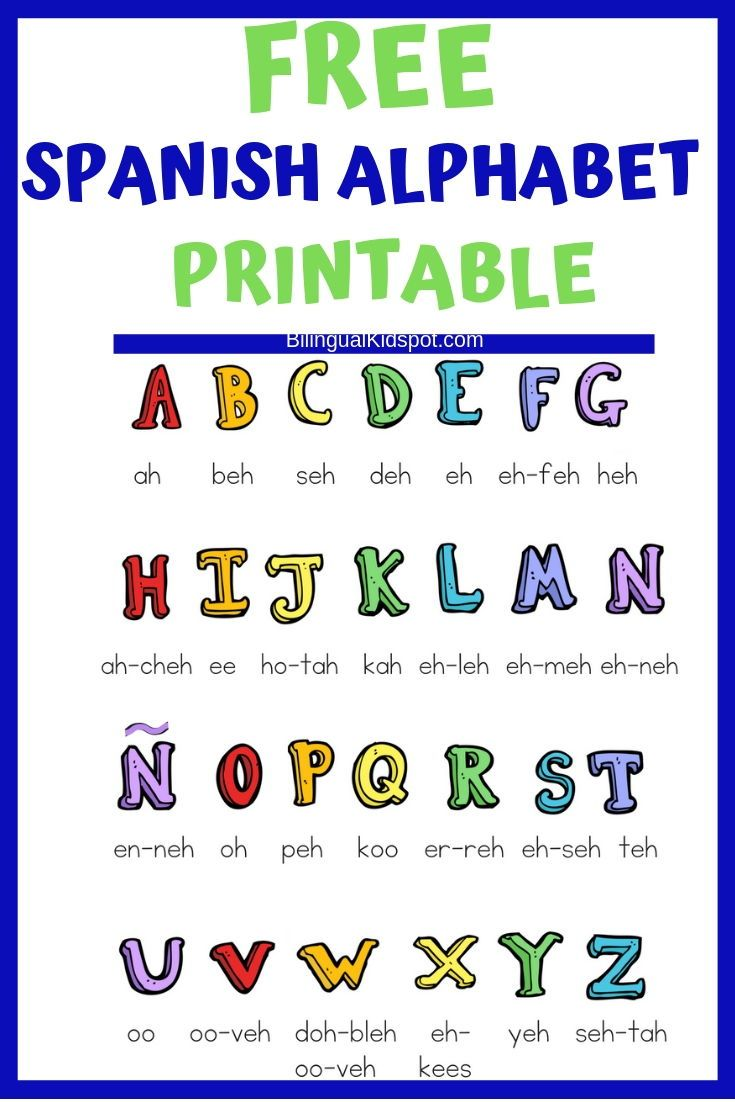 Teach Kids Spanish A Guide For Parents Includes A Free Spanish Alphabet Printable Spanish Spanish Kids Learning Spanish For Kids Spanish Language Learning