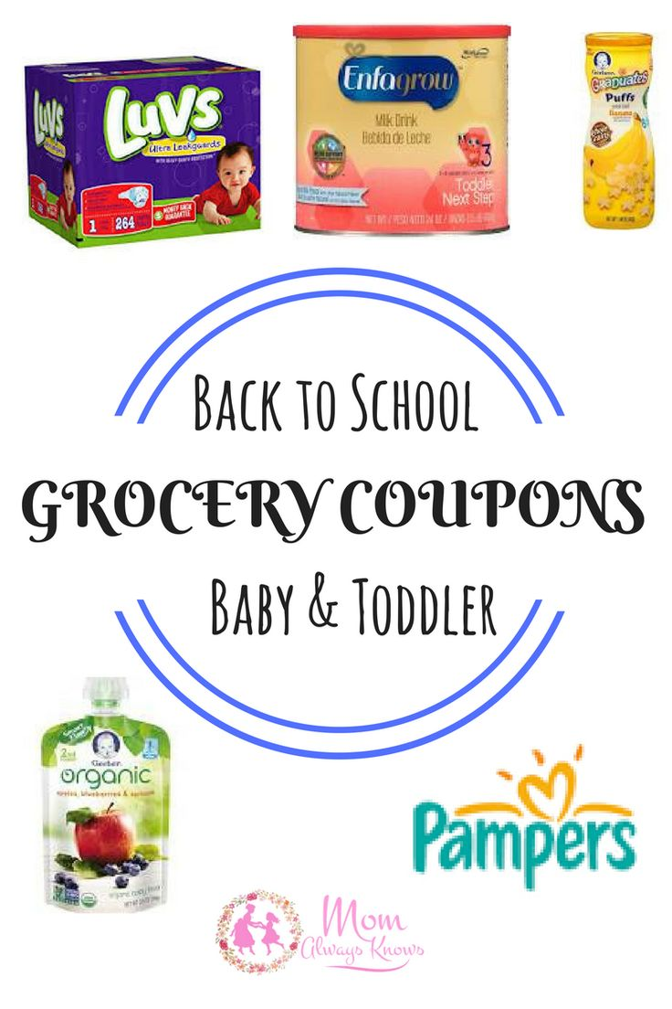 Don't forget the baby & toddler for back to school! We've got your Free Baby & Toddler GROCERY COUPONS here- Diapers, Formula, Puffs & more! Pampers!