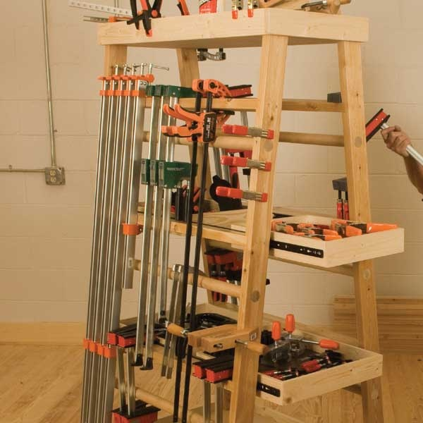 17 best images about pipe clamp storage on pinterest for Mobile lumber storage rack plans