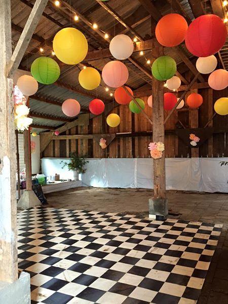Bruiloft locatie in een oude schuur
