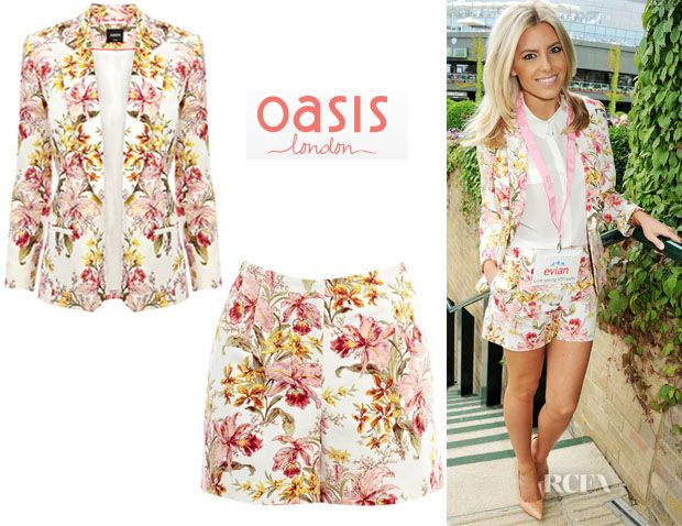 Mollie King's Oasis Floral Short Suit