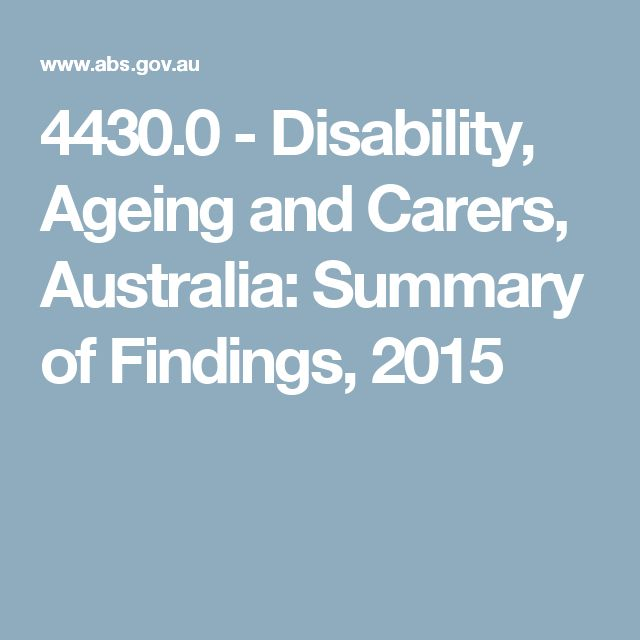 4430.0 -  Disability, Ageing and Carers, Australia: Summary of Findings, 2015