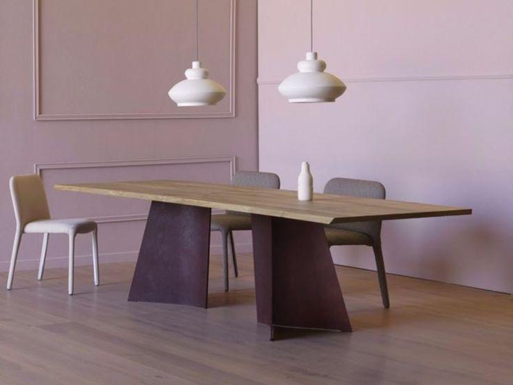 Tavolo legno grezzo design