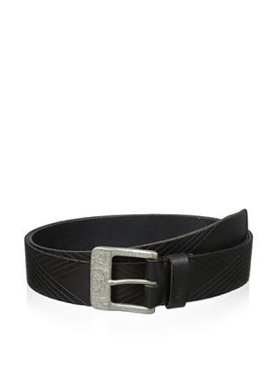 John Varvatos Star USA Men's 39 mm Harness Buckle with Embossed Strap Belt