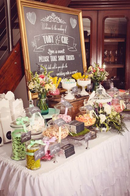"Vintage Garden / Wedding ""Vintage Garden Wedding Lolly Table"" 