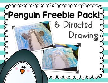 Penguin Directed Drawing!  This has a directed drawing, writing pages class graph, informational pages about penguins, graphic organizers, labeling page, and more!  Hope you love it!!