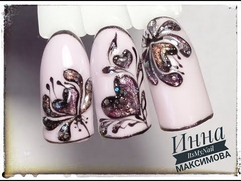 (490) ❤ ПРОСТОЙ дизайн к 14 ФЕВРАЛЯ ❤ СЕРДЕЧКИ на ногтях ❤ Дизайн ногтей гель лаком ❤ - YouTube