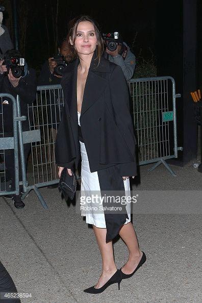 Photo d'actualité : Virginie Ledoyen seen during Paris Fashion Week...