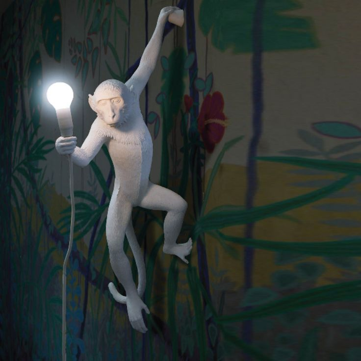 Hanging Monkey Lamp -pair with banana leaf or bamboo print wallpaper for the perfect combo