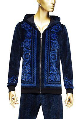 Versace - Chenille barocco loopback hoodie