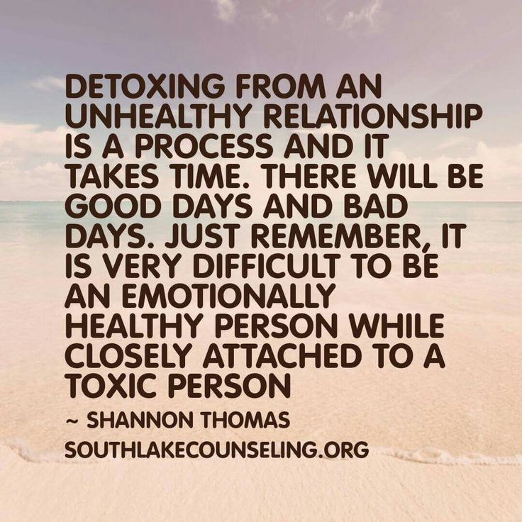Actually, I believe it is virtually impossible to be healthy, emotionally, while you have anything to do with a toxic person because their mission is to bring you down so you constantly feel as horrible as they do!  They can't stand anyone being happy, or, having anything nice because they are so insecure !