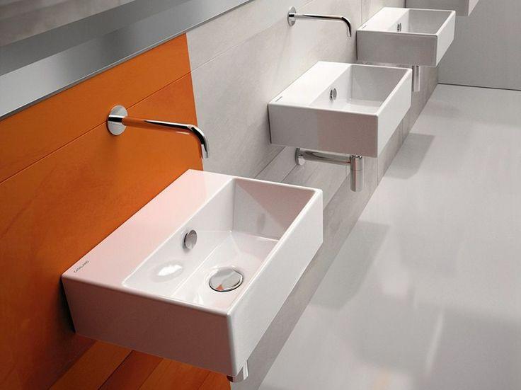 Kataloge zum Download und Preisliste für rechteckiges hänge- waschbecken aus keramik Premium 40 | waschbecken, kollektion Premium direkt vom Hersteller Ceramica Catalano
