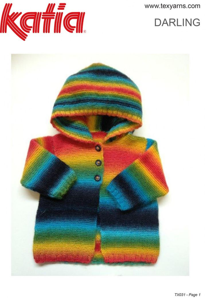 Found this hand knitted yarn at http://www.texyarns.com/darling-baby-jacket-with-hood/
