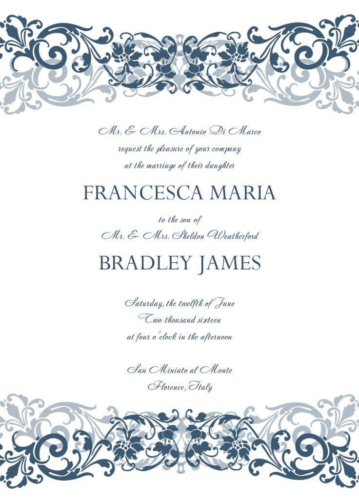 The 25+ best Create wedding invitation online ideas on Pinterest - invitation templates free online