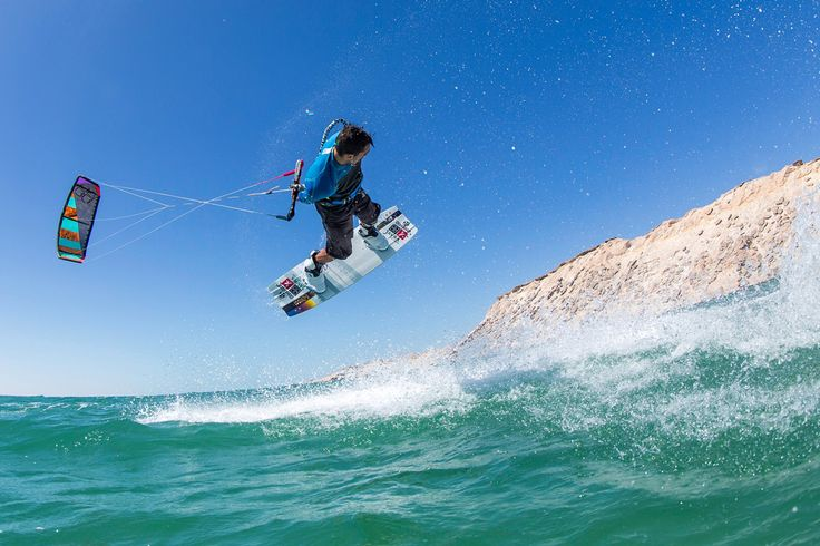 Youri Zoon low pass Passing the bar nice and low... and looking at those sand dunes. Best kiteboarding wallpaper.