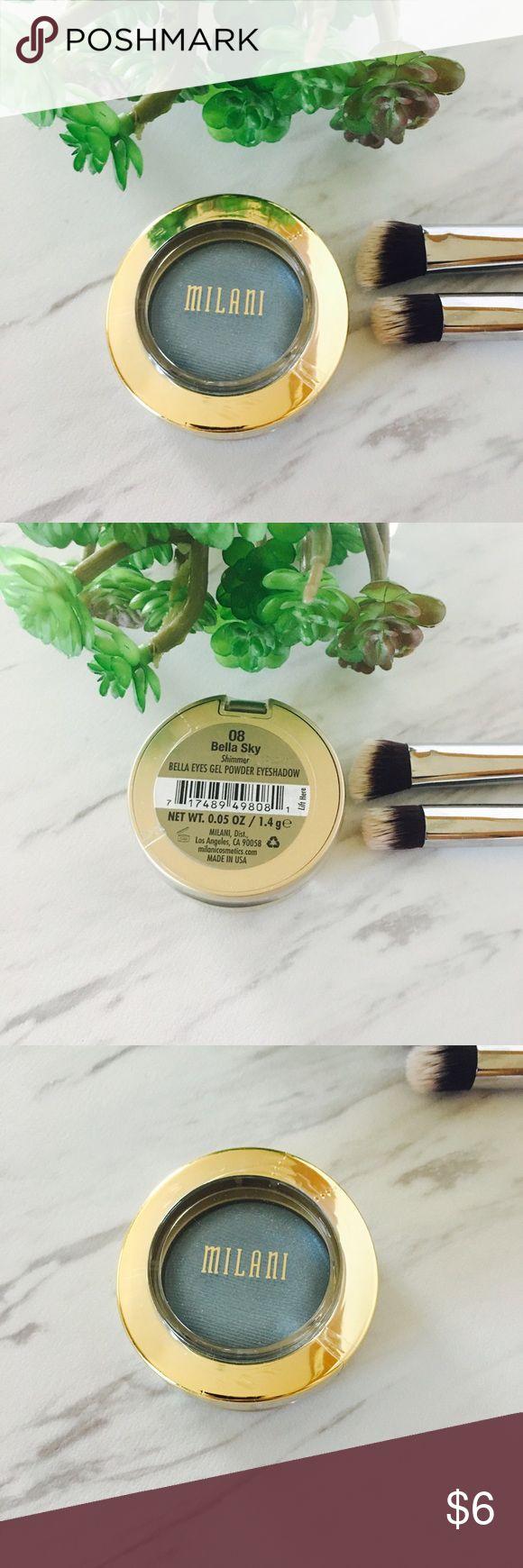 Milani eyeshadow gel powder Bella Sky shimmer #08 Milani eyeshadow gel powder Bella Sky shimmer #08. New sealed in original package. Milani Makeup Eyeshadow