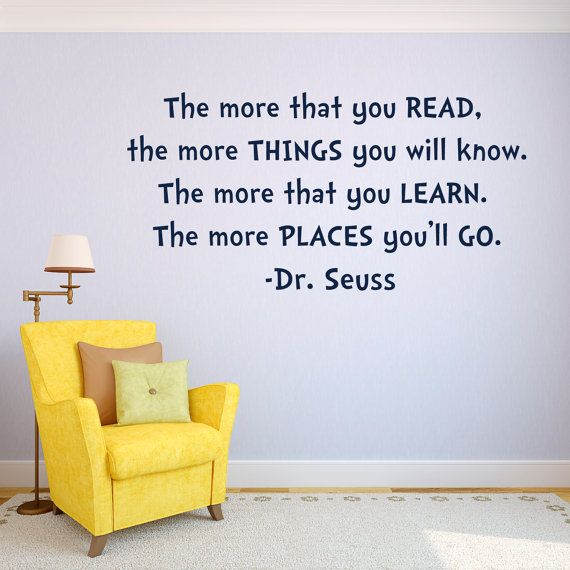 Kids Room Decor Dr. Seuss Quotes The More By GiftsWithMemories. Kids Room Wall  DecalsNursery ... Part 86