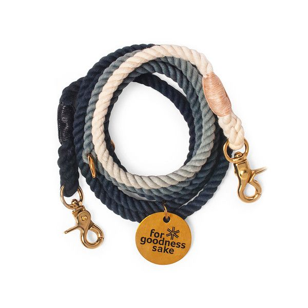 MAKER STORY DESCRIPTION Designed with marine-grade rope and hardware, this fabulous dog leash is durable enough for even the most rambunctious pooch. Hand dyed in multiple vibrant colors. - Made in Ne