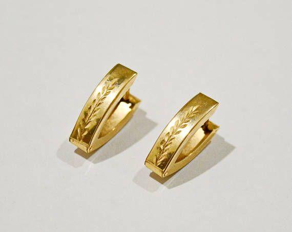 Vintage gold earrings gold earrings 585 14k Yellow gold