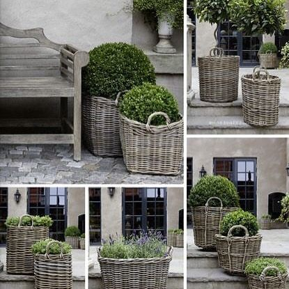 I'd love to put some plants in wicker baskets on my verandah like these from @artwood_interiors Has anyone tried this? I'm guessing I just line baskets with strong plastic.
