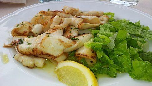 Calamari alla griglia con maionese leggera