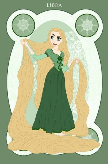 SIGNS OF THE ZODIAC, REPRESENTED BY DISNEY PRINCESSES Libra/Rapunzel