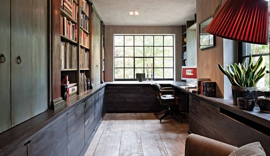 light: Aper Study, Study Spaces, Offices Design, Grey Floors, Dreams House, Vans Aper, Rustic Home Offices, Steel Window, Offices Cabinets