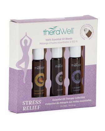 Stress Relief Three-Pack Roll-On Blends by Upper Canada at Neiman Marcus Last Call.