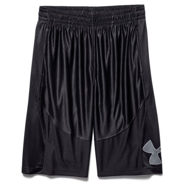 Under Armour Black Black Mens Mo Money Basketball Shorts ($35) ❤ liked on  Polyvore
