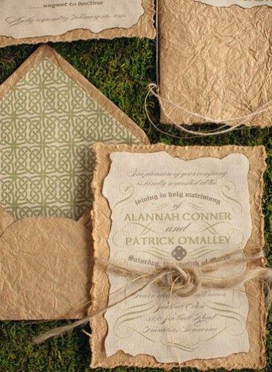 Rustic vintage invitation design