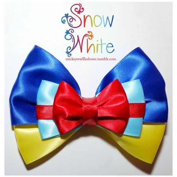 Snow White Hair Bow ❤ liked on Polyvore