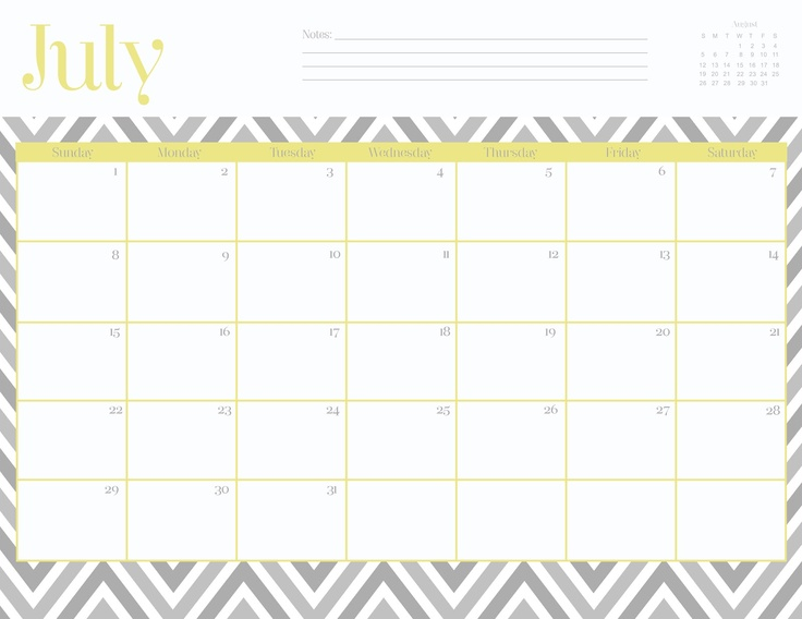 22 Best Calendar Template Images On Pinterest | Monthly Calendars