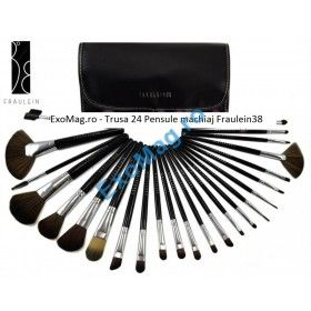 Trusa 24 pensule machiaj profesionale Fraulein38 - http://exomag.ro/pensule-machiaj-profesionale-makeup/trusa-24-pensule-profesionale-machiaj-fraulein38-studio-black.html